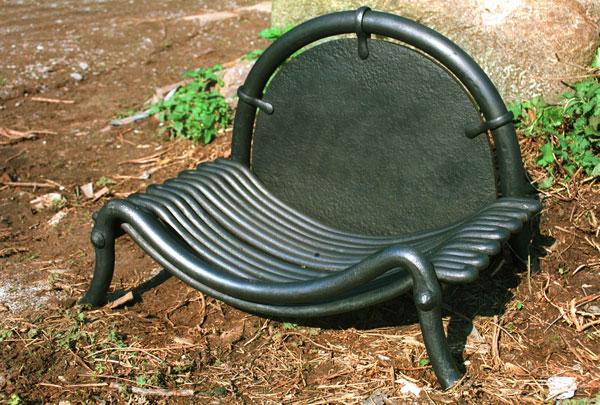 'Slumped' fire basket and back. (1999)
