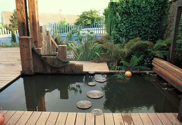 Stainless steel and bronze stepping stones (2002)