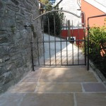 white cotteage gate closed