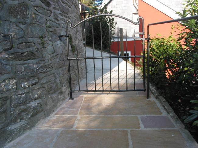 White cottage gate