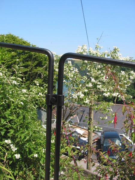 White cottage rails